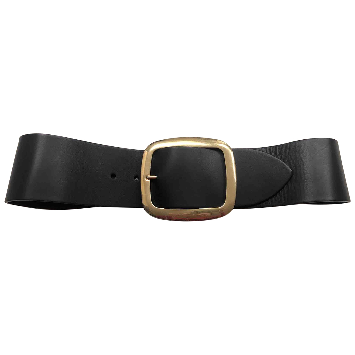 Celine \N Black Leather belt for Women L International