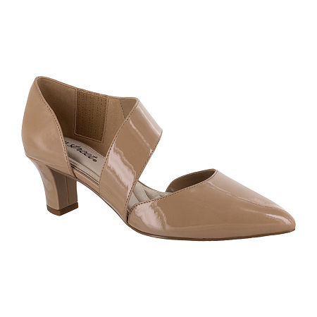 Easy Street Womens Dashing Pumps Spike Heel, 8 Medium, Beige