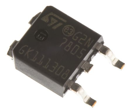 STMicroelectronics , 5 V Linear Voltage Regulator, 1.5A, 1-Channel 3-Pin, DPAK L7805CDT-TR (10)