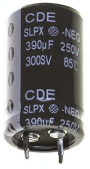 Cornell-Dubilier 220μF Electrolytic Capacitor 400V dc, Through Hole - SLPX221M400C3P3