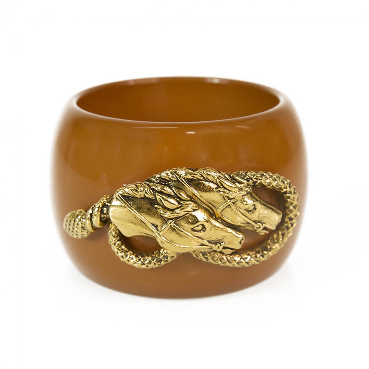Roberto Cavalli \N Camel White gold bracelet for Women \N