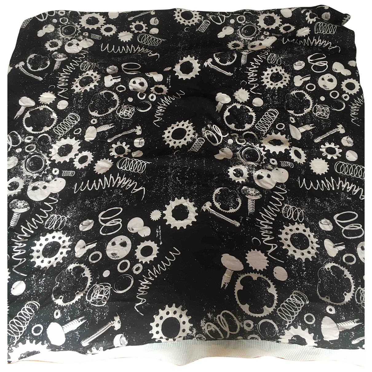 Cos \N Black Cotton scarf for Women \N