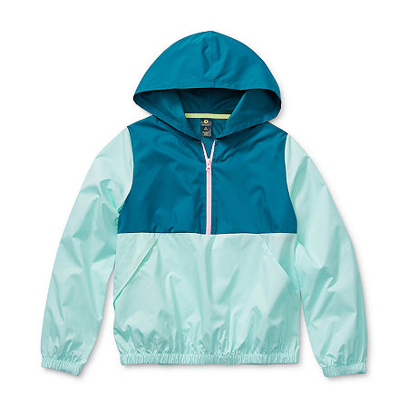 Xersion Little & Big Girls Lightweight Windbreaker, X-large (16) , Blue