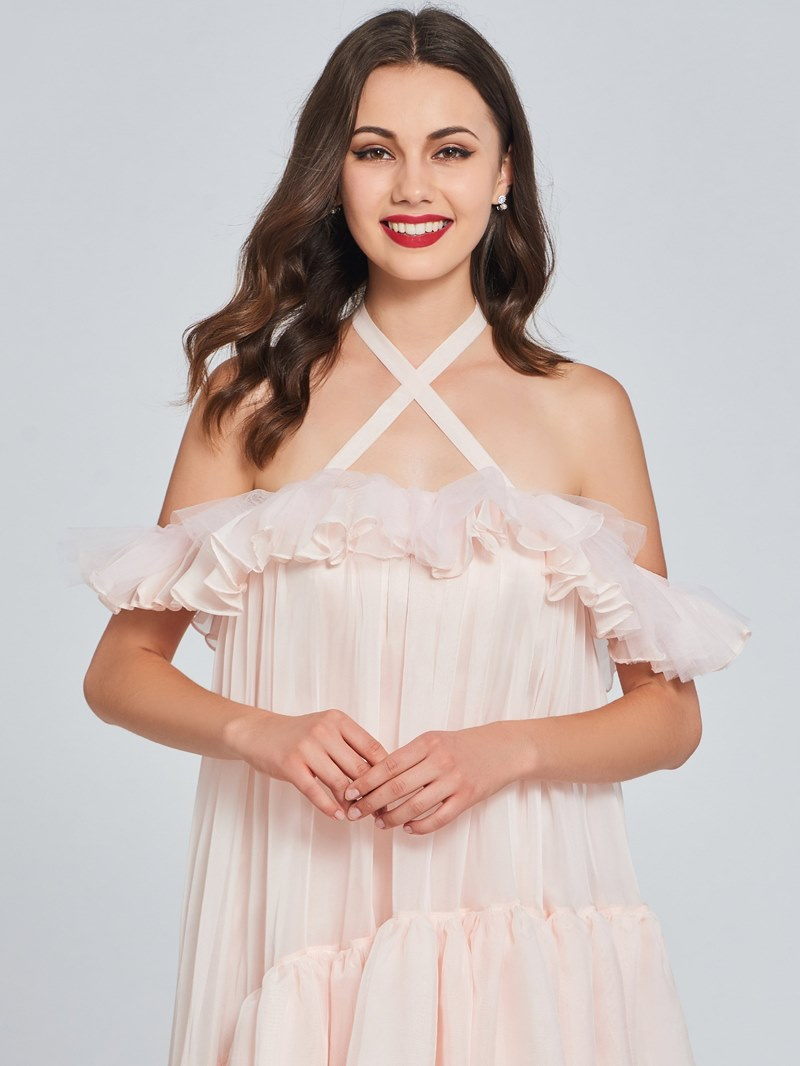 Ericdress Halter High Low A Line Homecoming Dress