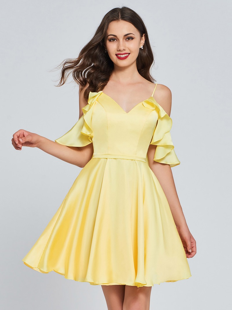 Ericdress A Line Spaghetti Straps Short Homecoming Dress