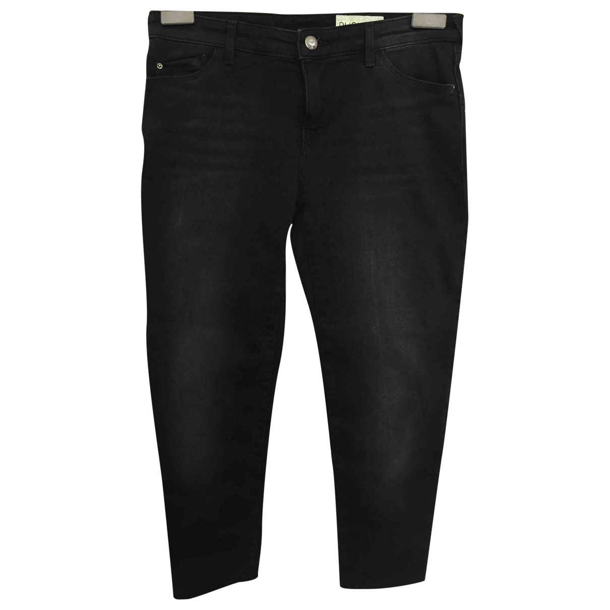 Emporio Armani \N Black Cotton Jeans for Women 27 US