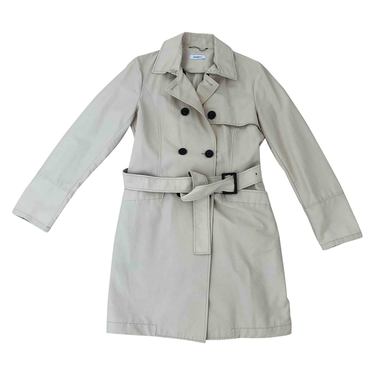 Max & Co \N Beige Cotton Trench coat for Women 38 FR