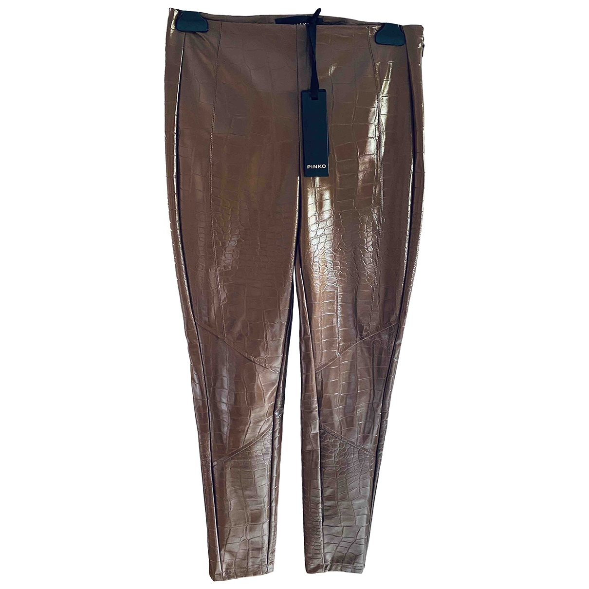 Pinko \N Brown Trousers for Women 10 UK