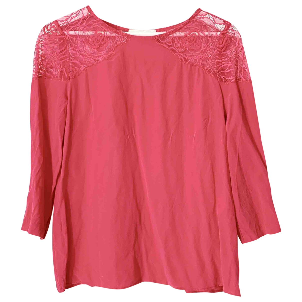 Sandro \N Pink Silk  top for Women 36 FR