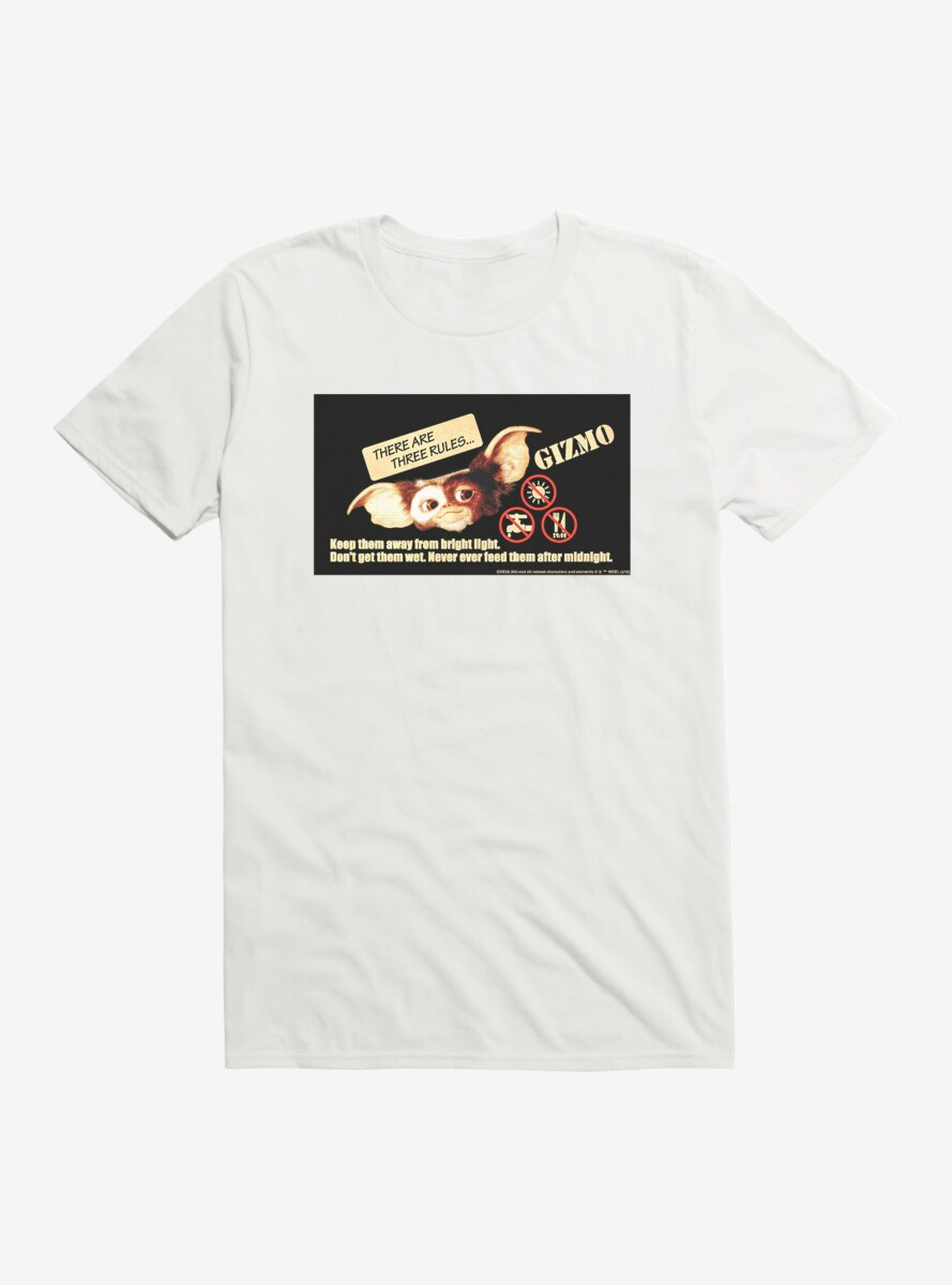 Gremlins Gizmo Rules To Follow T-Shirt