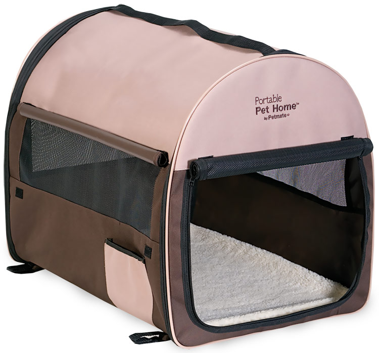 Petmate Portable Pet Home Medium - Dark Taupe/Coffee Grounds Brown