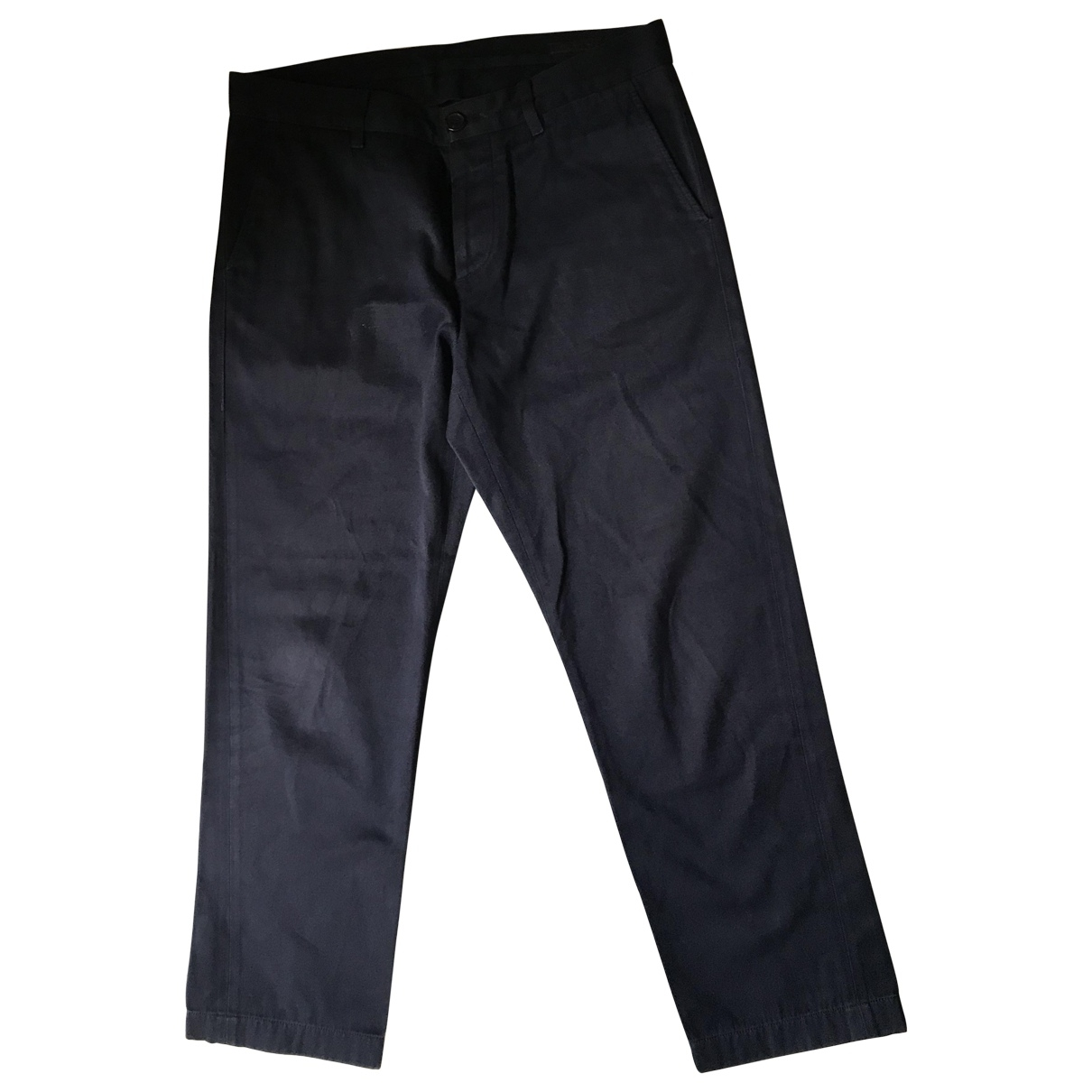 Prada \N Navy Cotton Trousers for Men 50 IT