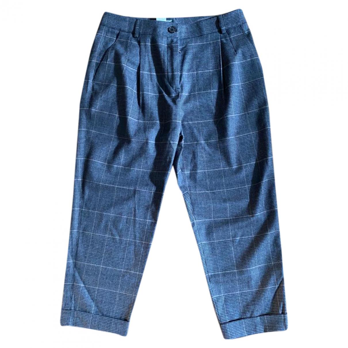 Dolce & Gabbana \N Grey Wool Trousers for Women 40 IT