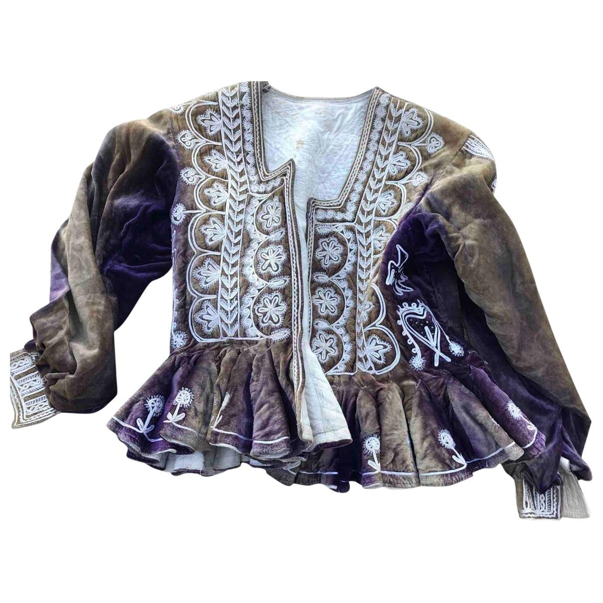 Non Signé / Unsigned \N Multicolour Velvet jacket for Women M International