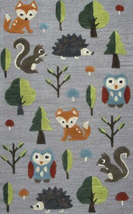 PLDPD585A33300305 Playday Forest Friends Youth Area Rug Size 3' X 5'  in