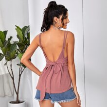 Tie Back Double Strap Cami Top