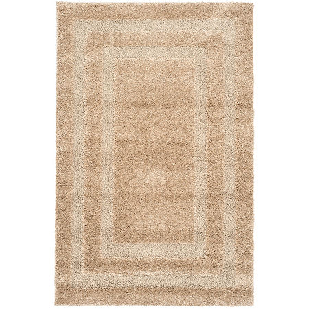 Safavieh Shag Collection Smith Solid Area Rug, One Size , Beige