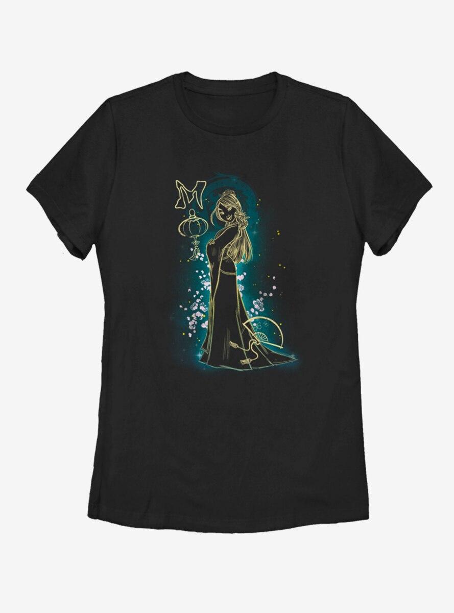 Disney Mulan Simple Line Womens T-Shirt