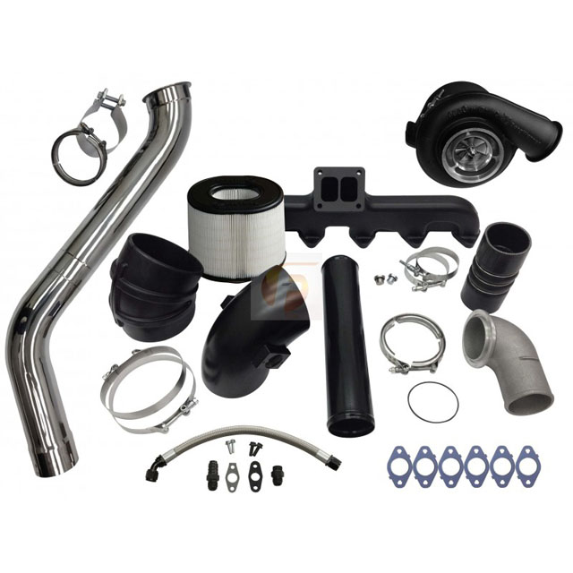 Fleece Performance FPE-673-2G-75-CM 2nd Gen Swap Kit and Billet S475 Turbocharger For 3rd Gen 6.7L Cummins 2007.5-2009