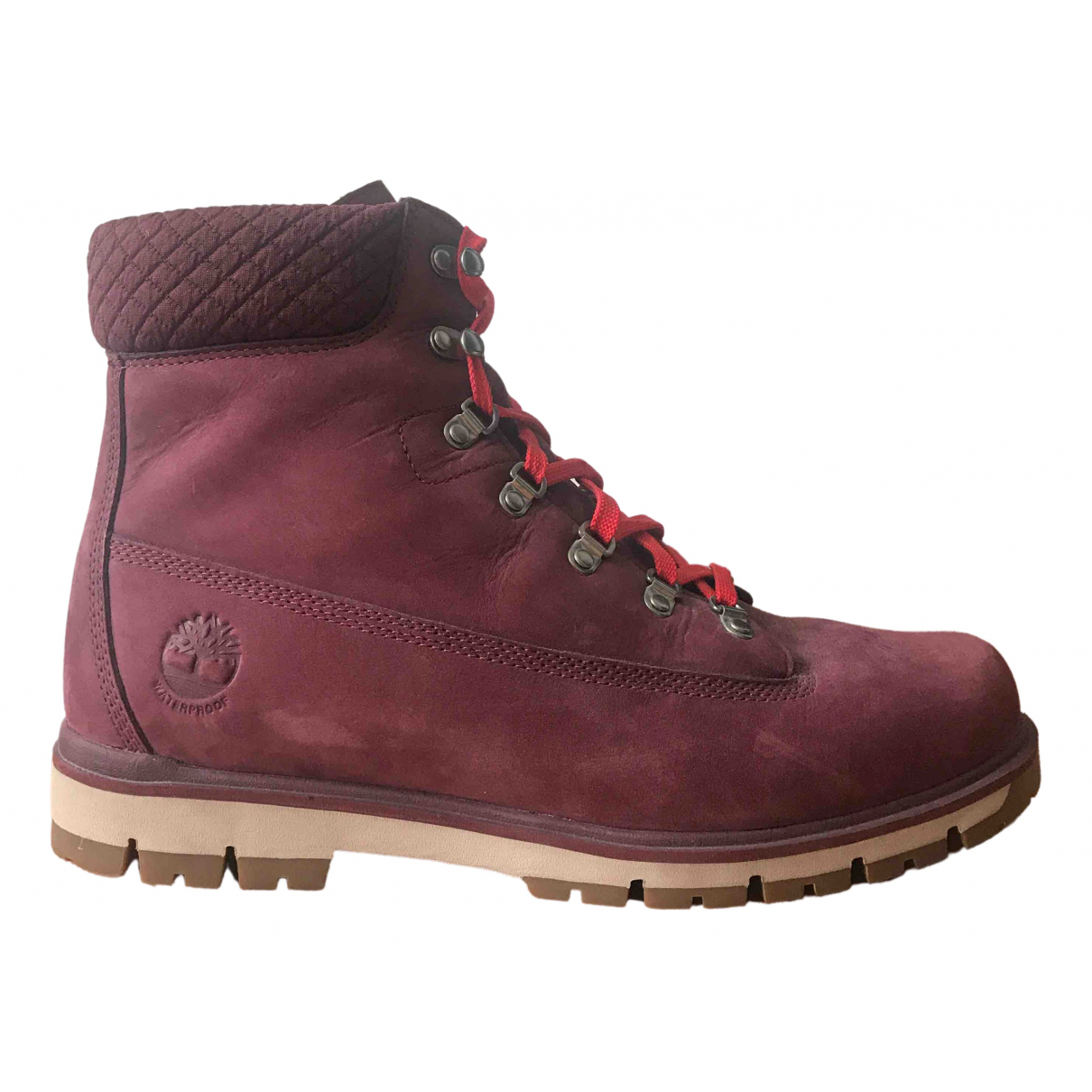 Timberland \N Burgundy Leather Boots for Men 11 UK