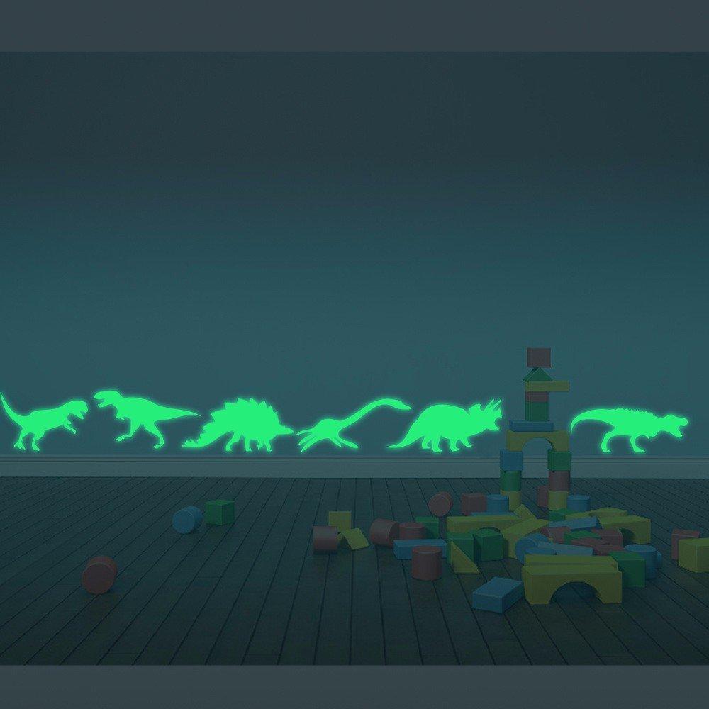 9PCS Wall Stickers Dinosaurs Decal LuminousFluorescent Home Decor