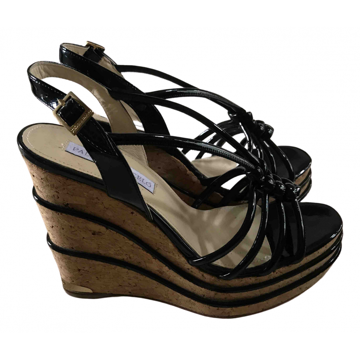 Paloma Barcelo \N Black Patent leather Sandals for Women 40 EU