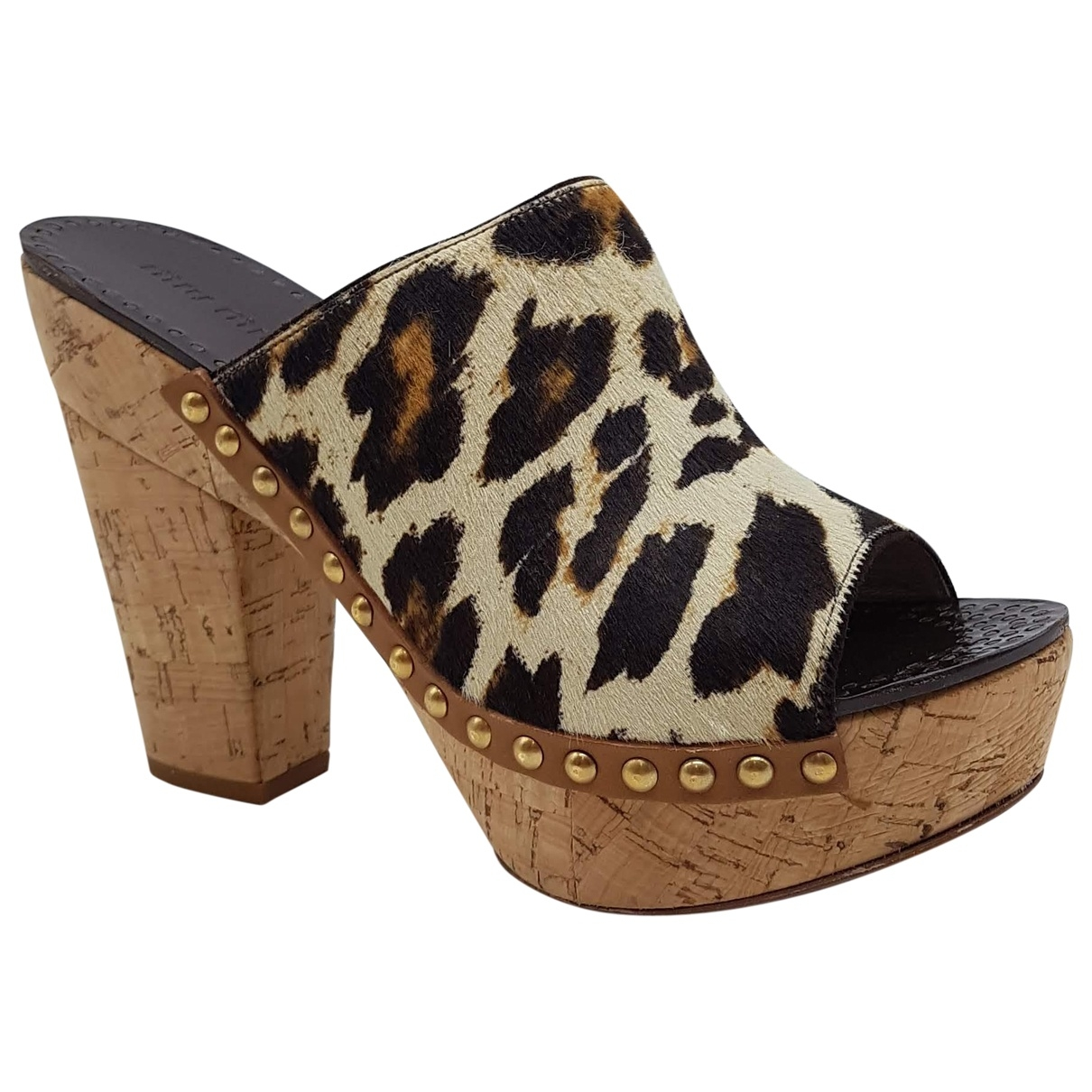 Miu Miu \N Multicolour Pony-style calfskin Sandals for Women 38 EU