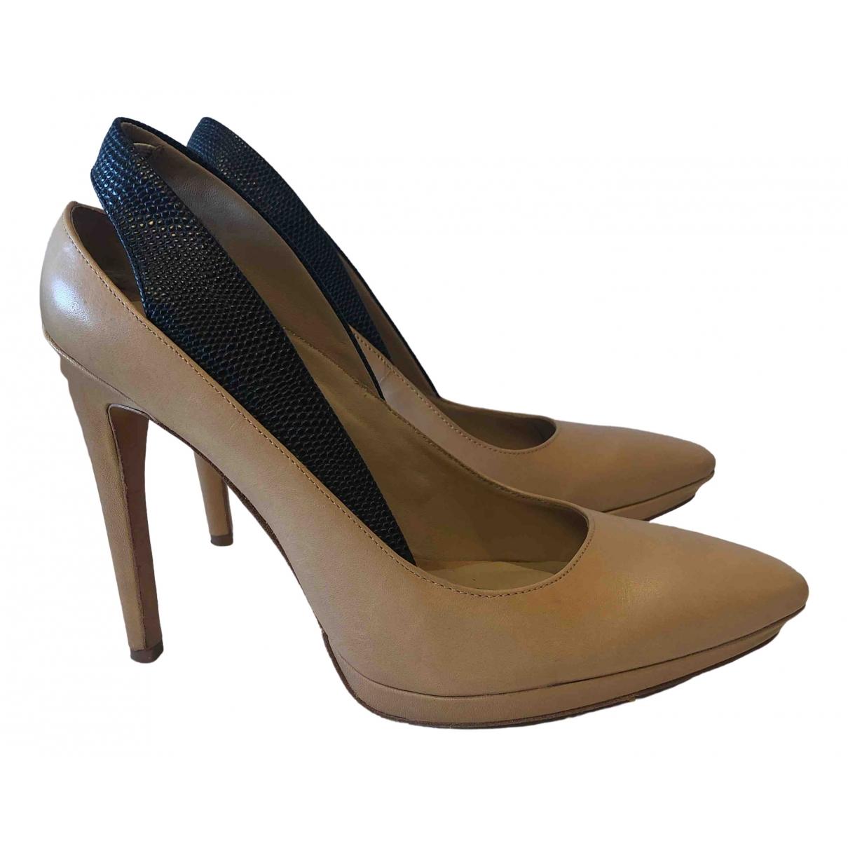 Bcbg Max Azria \N Leather Heels for Women 37.5 EU