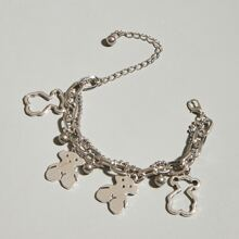 Bear Charm Layered Bracelet