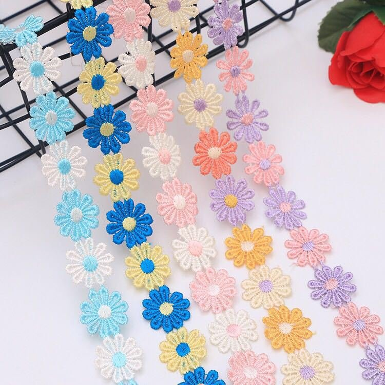 2.5cm Multi-color Lace Small Flower DIY Handmade Accessories DIY Materials Clothes Made Fabric