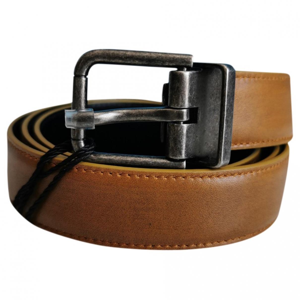 Dolce & Gabbana \N Brown Leather belt for Men 100 cm