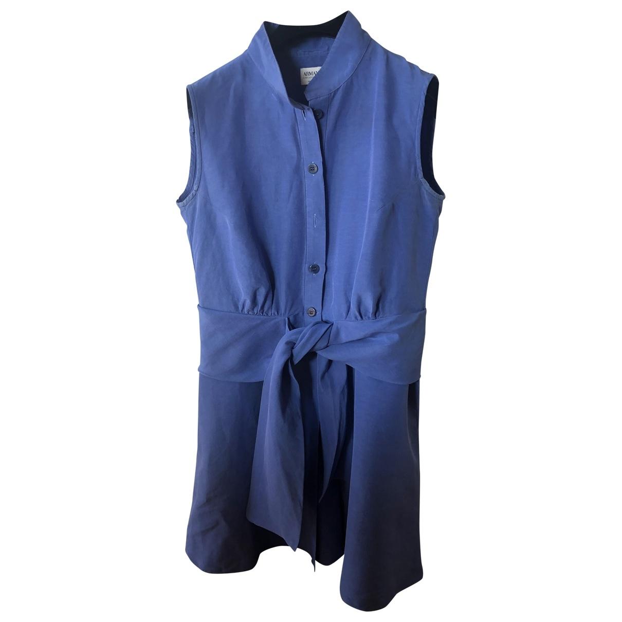 Armani Collezioni \N Blue Cotton dress for Women 46 IT
