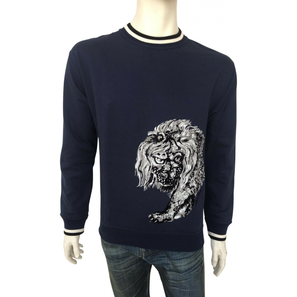 Louis Vuitton \N Navy Cotton Knitwear & Sweatshirts for Men XL International