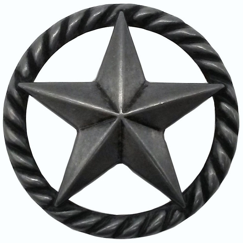 3-D Star with Narrow Rope, Petwer Oxide