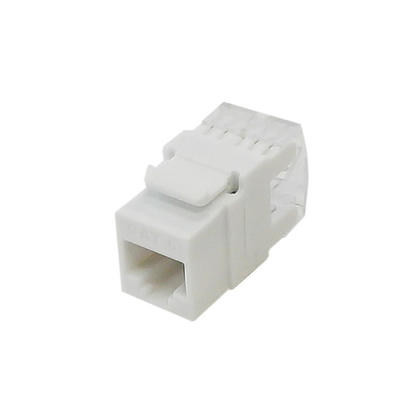RJ45 Cat6 Slim Profile 180 Degree Keystone Jack, 110 Punch-Down