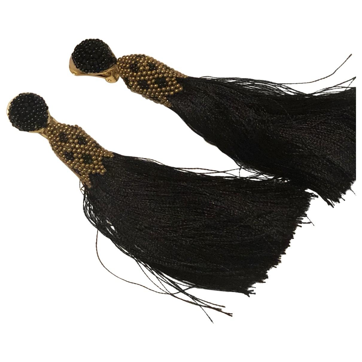 Oscar De La Renta \N Black Glass Earrings for Women \N