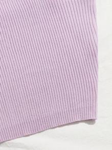 Solid Rib-knit Cami Top
