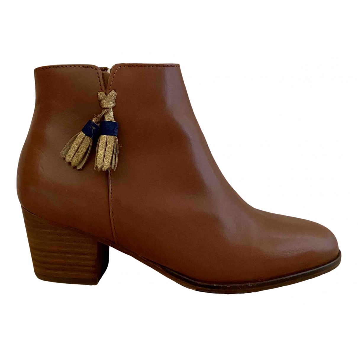 Bobbies \N Brown Leather Boots for Women 37 EU