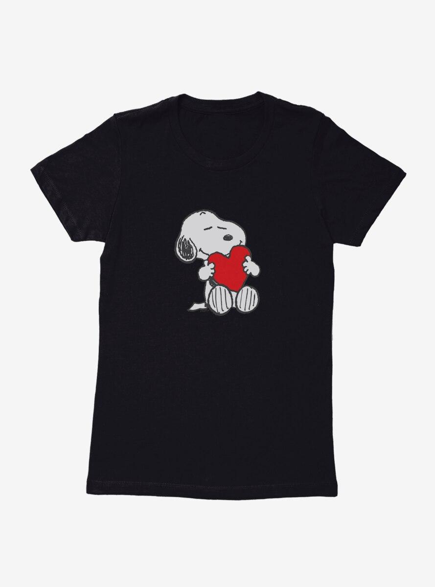 Peanuts Snoopy Valentine Heart Womens T-Shirt