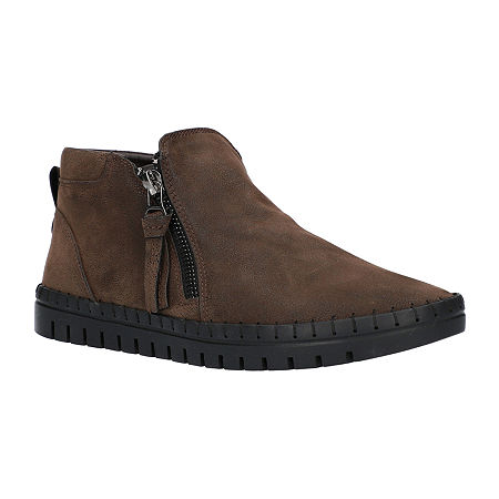 Easy Street Womens Shalina Booties Flat Heel, 6 1/2 Medium, Brown