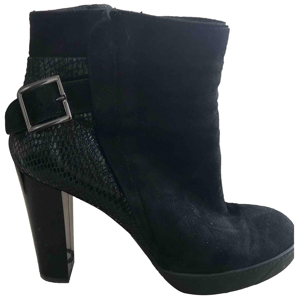 Hogan \N Black Suede Ankle boots for Women 37 EU