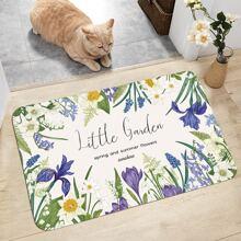 Flower Print Door Mat