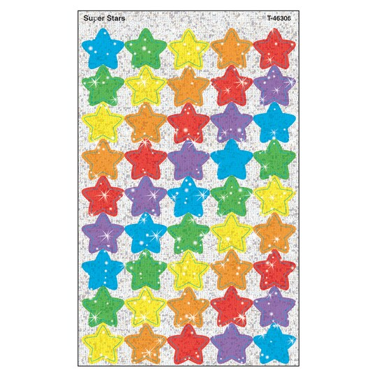 Trend Enterprises® Super Stars Supershapes Stickers-Sparkle, 12 Packs Of 180 | Michaels®