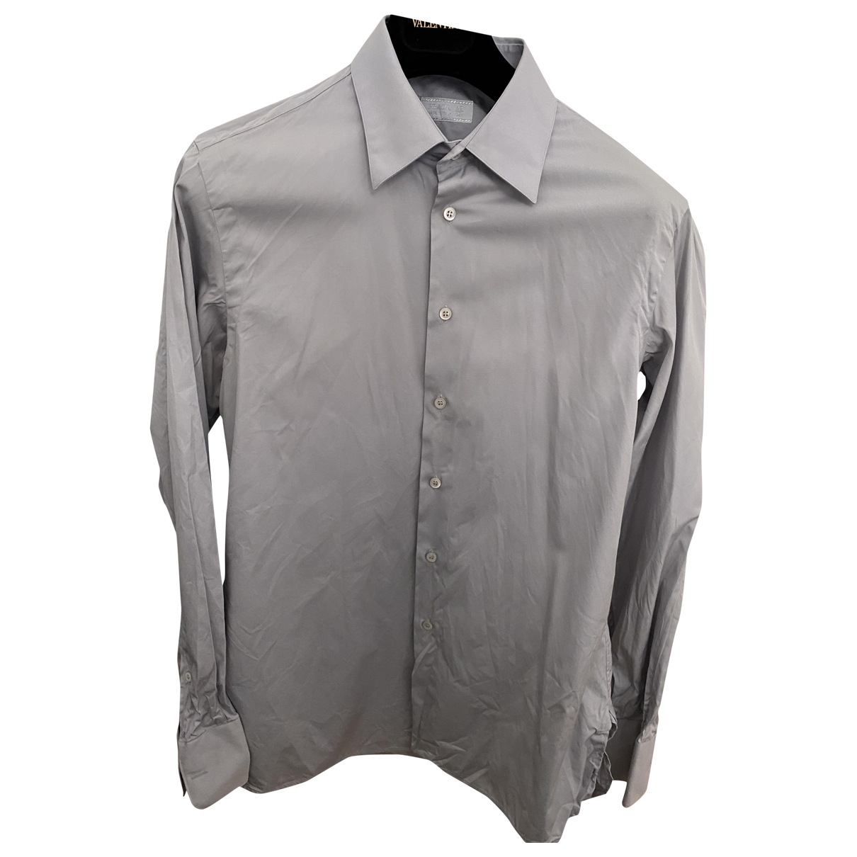 Prada \N Grey Cotton Shirts for Men 42 EU (tour de cou / collar)