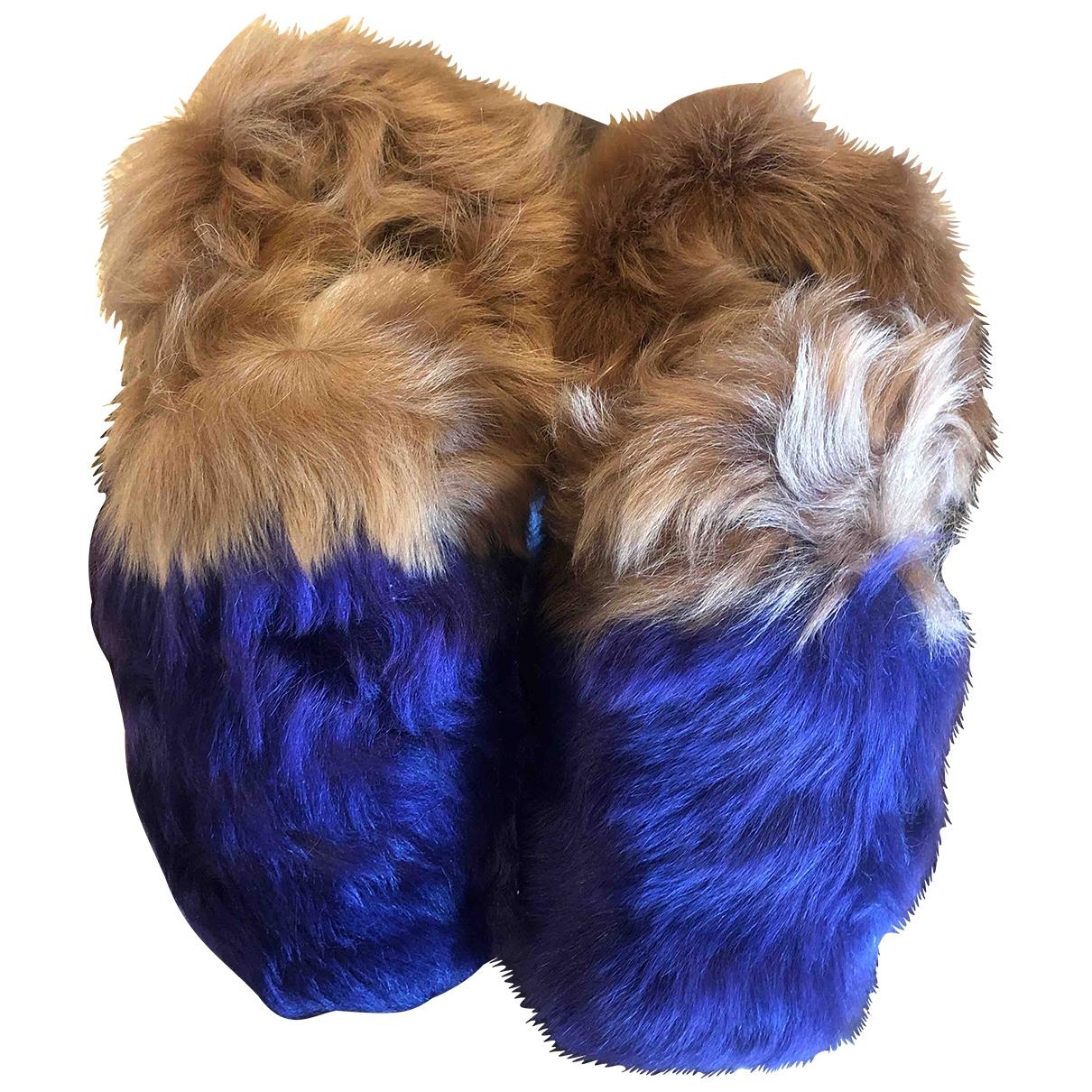 Carshoe \N Purple Shearling Mules & Clogs for Women 40 EU