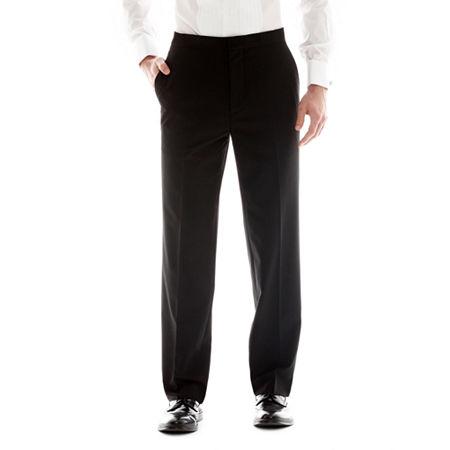 Men's JF J. Ferrar Flat-Front Classic Tuxedo Pants, 34 30, Black