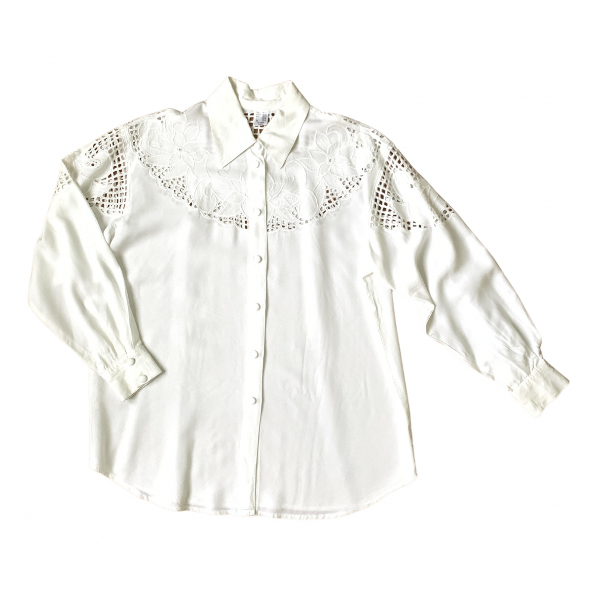 Non Signé / Unsigned \N White Cotton  top for Women L International