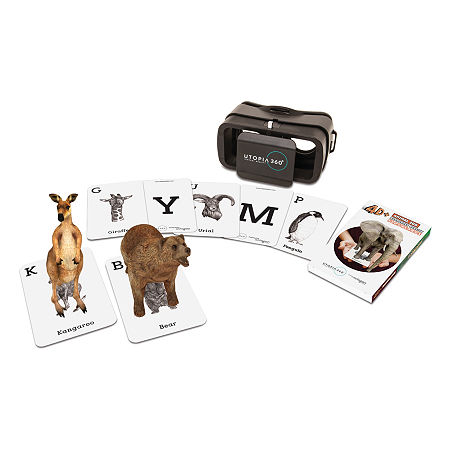 ReTrak 4D+ Animal Zoo Augmented Reality Cards & Virtual Reality Headset, One Size , Black