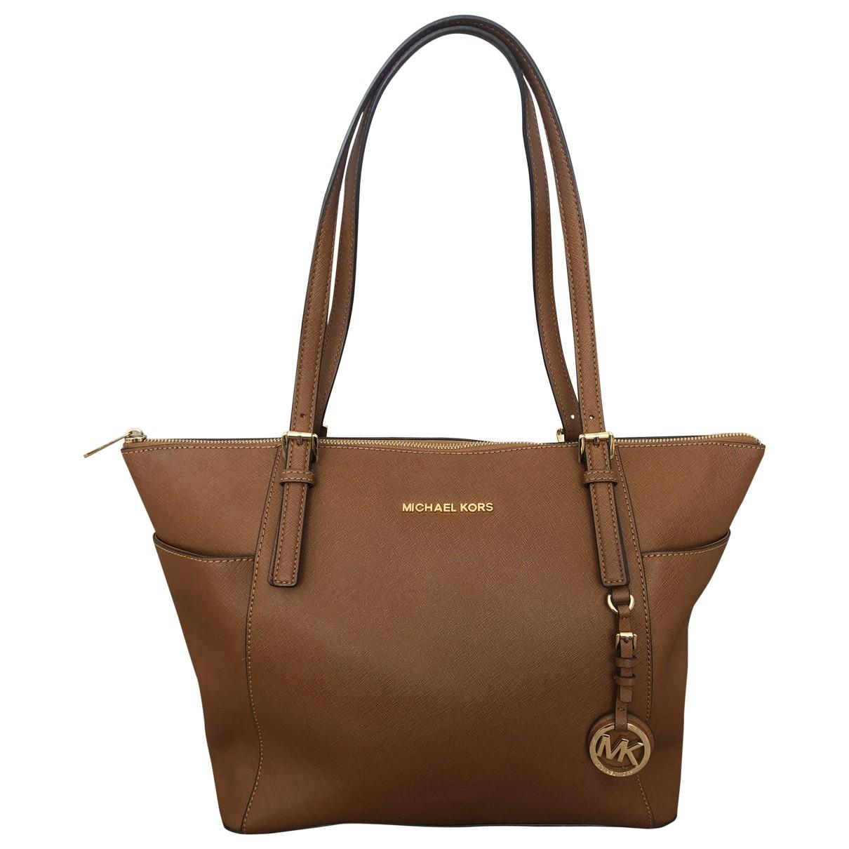 Michael Kors Jet Set Camel Leather handbag for Women \N