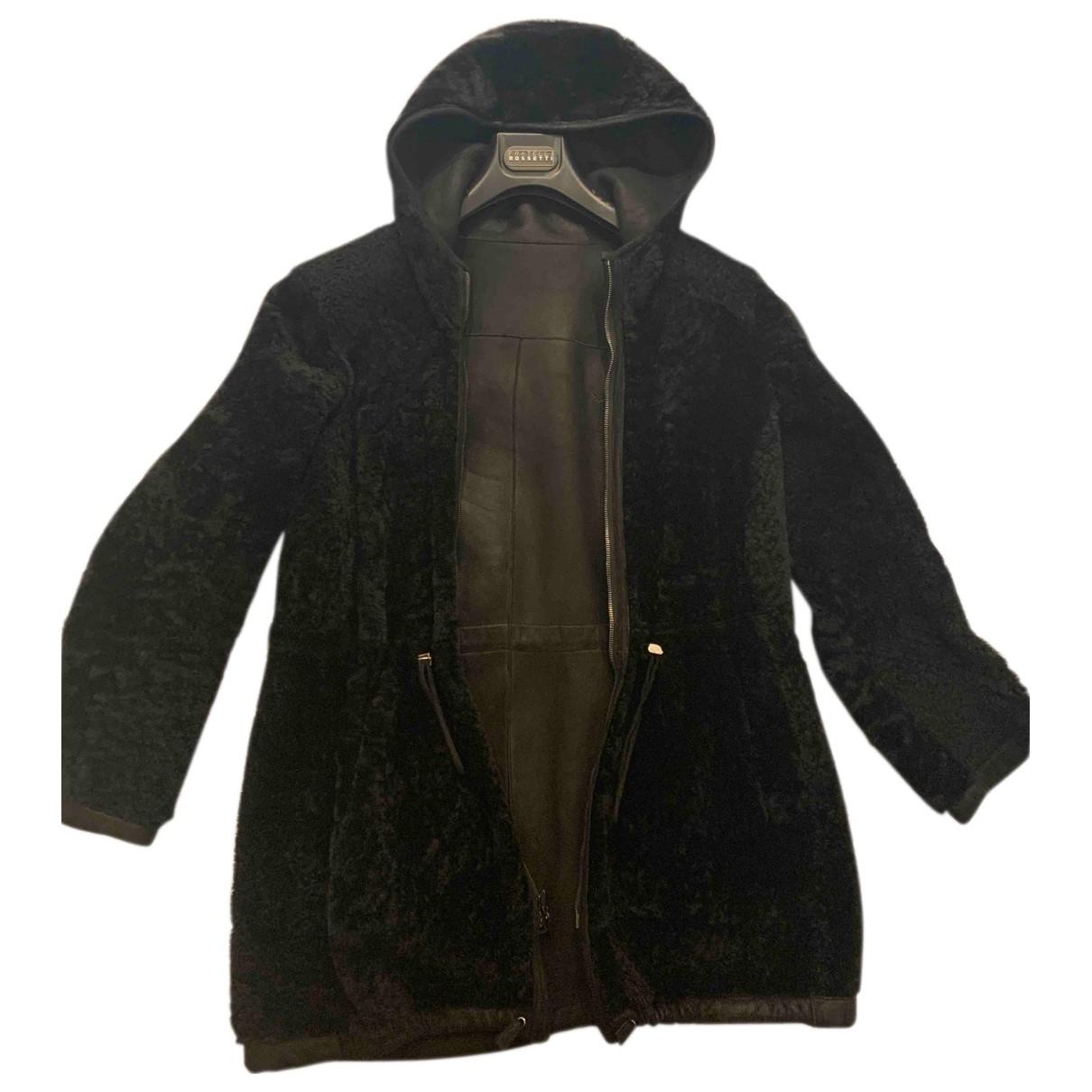 Fratelli Rossetti \N Black Shearling coat for Women 38 IT
